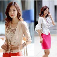 2014 spring&autumn Korean Women blazer stylish 3 colors slim short designer Jacket small Long sleeve OL coat F1018-6643
