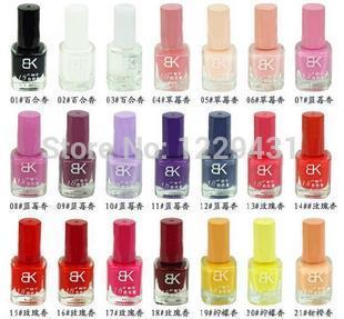 Free shipping 2013 Bk nail polish drying oil naked 8 ml of 42 color cosmetics nail polish multi-color optional 5 bottles of $8.8(China (Mainland))