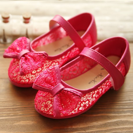 AliExpress.com Product - new 2014 crochet lace gauze sandals for girls sweet princess single shoes kids sandals Eur 26-30 Free Shipping