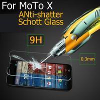 Retail Ultra-thin 2.5D Premium Tempered schott Glass Anti-shatter Screen Protector Film For Motorola Moto X Phone original Panel