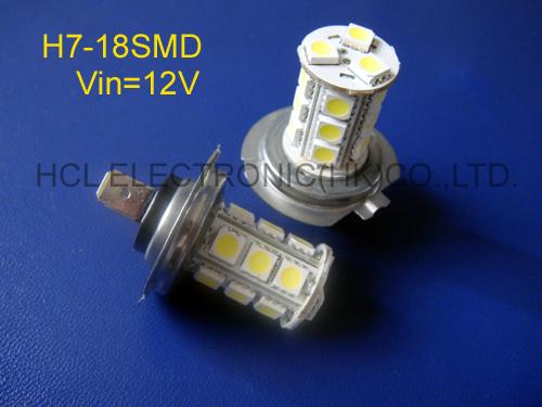 High quality 5050 12V car H7 led fog lamps, car 12v led H7 fog bulbs, car H7 led fog lights free shipping 2pcs/lot(China (Mainland))
