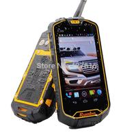 free shipping Unlocked Original Runbo Q5 phone IP67 Waterproof Outdoor Smartphone Tough Rugged Mobile Phone Walkie Talkie