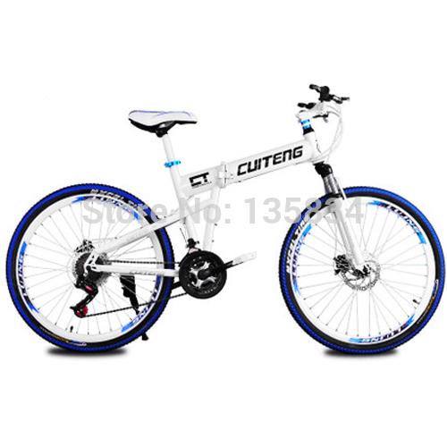 "2014 New Mountain Bike 21 Speed Folding Bike Hummer Full Shocking proof 26"" Mountain Bicycle Double Disc Brake System Cycling(China (Mainland))"