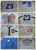free shipping  stitched 2014  Chicago Cubs 23 Ryne Sandberg men's baseball jersey/  Sandberg baseball shirt