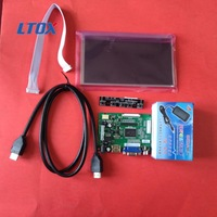 Free Shipping Raspberry pie 2 Raspberry Pi 7 -inch LCD screen touch display HDMI cable to send power