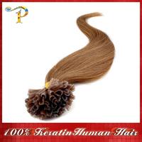 "18"" 20"" 22"" 24""Keratin Nail Stick Nail Tip Virgin Remy Human Hair Extensions 0.5g/1.2g/s 100s/pack Color #16 Free shipping"
