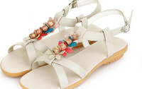 Bohemia sandals summer new arrival 2014 multicolour after the petals of beaded strap sandals