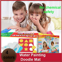 free shipping  72x49cm 4 color water magic doodle Mat for child 1 magic pen / water drawing board / water mat / aquadoodle mat
