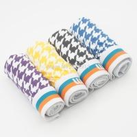 2015 New brand Plaid Style Good quality Cotton Top underwear mens boxer Male shorts 4pcs/lot