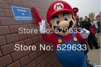 2014 Large luxury Super Mario Bros. mascot costume adult beautiful evening dress suit+ free shipping
