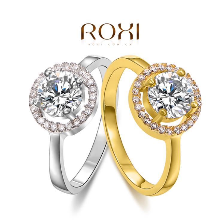 ROXI Christmas Gift Classic Genuine Austrian Crystals Fashion Kiss Fish Ring 100% Man-made Big OFF Christmas(China (Mainland))