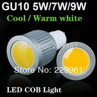 5pcs GU10 High Bright 5w/7w/9w LED COB Spot light Bulb lamp Cool White/Warm White AC85-265V