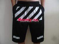2014 new U.S.hip hop skateboard  VIRGIL ABLOH off white mens Pyrex  Basketball sport shorts free shipping