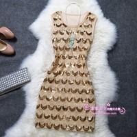 New 2015 embroidery cocktail dresses summer casual dress summer women dress QXSA13643