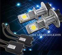 2014 NEW Super Bright cree light source car led headlight headlamp h4 h7 h11 9005 9006 near the LED light bulb 6000 color