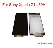 DHL EMS free shipping for Sony Xperia Z1 L39H lcd display with touch screen digitizer glass original mobile phone replace parts