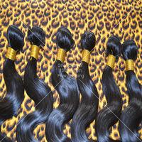 Brazilian Virgin Hair Body Wave 4pcs Lot 50g Half Head Sewing 100% Human Hair Weaves Free Shipping Brazilian Hair Weave Bundles