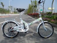 20 folding bicycle folding bike shock absorption transmission mountain bike 6 ultra-light zxc