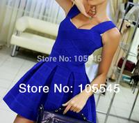 2014 new love girl fashion strap bodycon fashion party celebrity bandage leisure mini dress multicolor