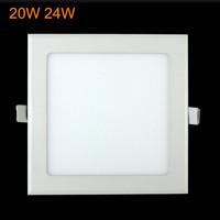 1pcs High brightness led square lamp 85-265v 24W SMD2835 Led Recessed Ceiling Panel Downlight Bulb Lamp