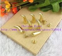 20PCS 7*20mm Cool Horn Nail Punk Rock Spike Bullet Metal Stud DIY Rivet Cloth Accessory Wholesale Free Shipping