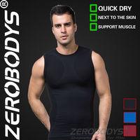 10pcs ZEROBODYS Outdoor Mens Body Shaper Quick Dry Vest 390 BK Short Sport Tank Top Man Sport Spandex Sport Short Vest