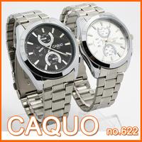 CAQUO brand Men business casual HIGH grade quartz analog waterproof stainless steel watches man gift watch man wristwatch #622