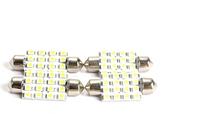 free shipping 4pcs 42mm Super White Festoon Dome 16 LED Car Interior Light Bulb Lamp