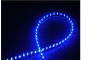 New 48 LED Flexible Light Strip Bar Aquarium Fish Tank Lights Lamp With Power  free shipping