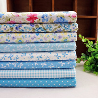 SALE! 8pcs/lot 50*40cm New Baby Blue Tilda Doll Cotton Patchwork Fabric Set Sewing Home Textile Cloth for Free Craft Quilting