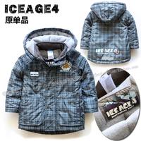 Boys warm cotton-padded jacket  Male baby winter coat  Children cotton jacket  Boys fashion hooded windproof jacket  2-6 age