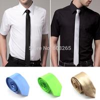 5cm  New 2014 highest quality korean polyester solid men slim neckties  casual  Skinny  Tie  men accessories 33g