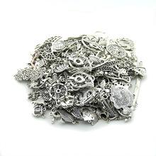 100g (50~80pcs)Random Mix Styles Antique Silver, Antique Bronze Zinc Alloy DIY Jewelry Accessories Charms Pendant