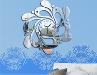 Min order 15 usd ( Mix items )3D DIY CLOCK Decorative Mirror wall clock Drops - Home Decor