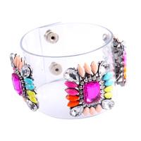 New 2014 PVC shourouk Bracelet fashion shourouk Crystal Cuff bracelets & bangles for women gifts