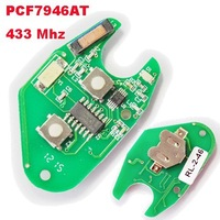 Remote Car Key Electronic Board for Renault Kangoo with 2 Buttons Key Fob Board PCF7946AT 433Mhz Remote Control Board