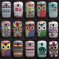 Owl Tribal Pattern Tpu Gel Soft Skin Case Cover For Samsung Galaxy S3 Mini i8190