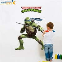 teenage mutant ninja turtles wall stickers memories of childhood wall decals zooyoo031 diy removable wall art home decorations