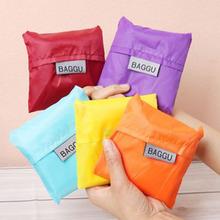 New 6pieces/lot Japan BAGGU Square Pocket Shopping Bag Candy 6-colors Available Eco-friendly Reusable Folding Handle Nylon Bag(China (Mainland))