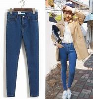 Woman's All season gear stylenanda slim high waist jeans female trousers vintage skinny pants tight Retro feet pants