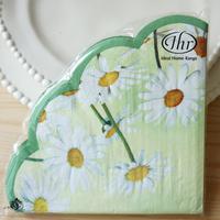 Circle Paper Napkin Daisies daisy ihr round table napkin paper tissue multicolour floral print accessories