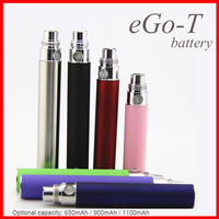 Drop shipping eGo battery eGo-T battery 650mAh 900mAh and 1100mAh capacity 11 colors with Top quality