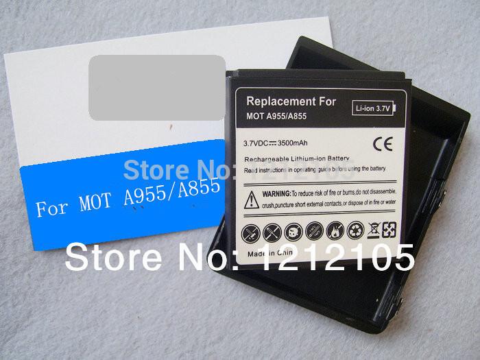 BP6X battery for Motorola Droid2 A955 A555 A855 A922 plus bule cover 3500mAh batteria(China (Mainland))