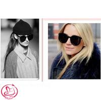 D-4234 New 2014 Fashion Vintage Big Lenses Brand Design Sunglasses Woman Luxury Retro Oval Frog Mirror Sun Glasses 4 Colors