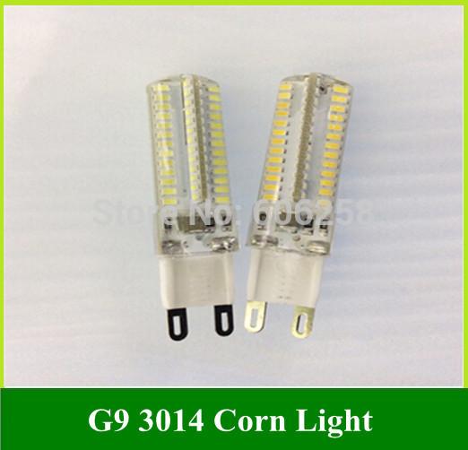 G9 5W 3014 104 SMD LED Corn Light Bulbs Light crystal lamp 220-240V 10pcs(China (Mainland))
