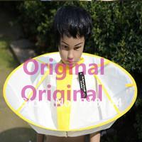 1 pcs 2014 New Arrival Kid Child Haircut Cape Gown Apron Waterproof Salon Hairdresser Barber Cloth Lemon Yellow  0-10Y