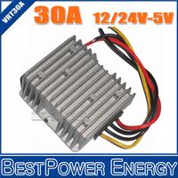 Wholesale 10pcs/lot DC to DC Step Down Power Converters Voltage Buck Converter 24V-5V 12V-5V 30A 150W LED Power Supply