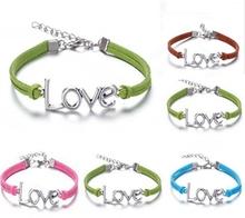 Free Shipping Wholesale Fashion Jewelry New Hot 10pcs Korea Velvet Rope Love Bracelets & Bangles DIY Jewelry (16–22cm) S3606