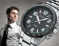 2015 New relogio Luxury Curren Brand Full Stainless Steel Analog Display Date Men's Quartz Watch Casual Watch Men Wristwatch