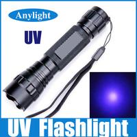 3w led uv  flashlight wf-501b ultraviolet lamp 395nm Purple light  WLF13